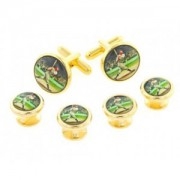 1920's Baseball Player Cufflinks and Studs
